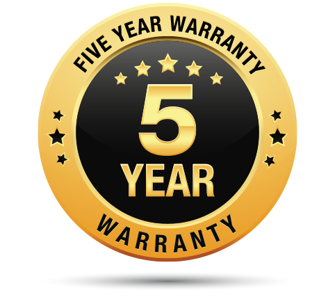 5 Year Industry Standard Warranty